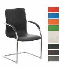 Chaise de visiteur MELINA V2 fauteuil luge métal chromé accoudoirs salon cuisine