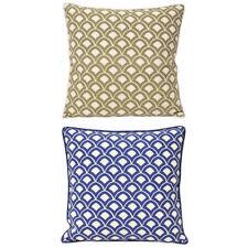 Paoletti Ionia Scallop 100% Cotton Piped Cushion Cover, 50 x 50 Cm
