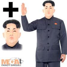 KIM Jong Un + Masque ROBE FANTAISIE HOMME Korean Président dictateur adulte Costume Neuf