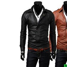 Giacca Giubbotto in Pelle Uomo Men Leather Jacket Veste Blouson Homme Cuir N14b