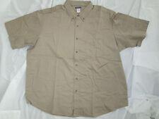 Mens shirt Tan Jerzees Big & Tall small 2XL 3XL 4XL 5XL Work uniform cotton  NEW