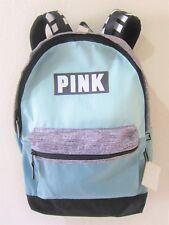 RARE Victoria Secret Pink MINT GRAY MARL BLACK CAMPUS CARRY ON BACKPACK BOOK BAG