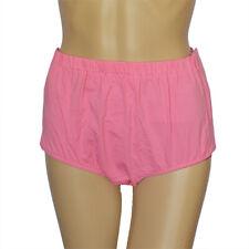 Women Pure Cotton Snap-On Incontinent Pants for Elder Patient Rose Pink
