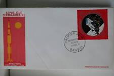 ENVELOPPE PREMIER JOUR CENTRAFRIQUE 1971 ARMSTRONG