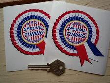 """BMC ECURIE spécial tuning Abingdon rosette autocollants 4 """"paire voiture MG Classic Mini"""