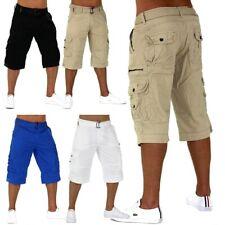 Trendy Uomini Capri Adventure Jeans Bermuda Cargo Shorts corti Camel