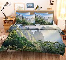 3D Montagnes 295 Lit Taies D'oreiller Édredon Couette Couvrir Set Célibataire