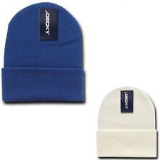 Decky Long Beanies Cuffed Knit Ski Snowboard Cap Hat Snug Warm Winter