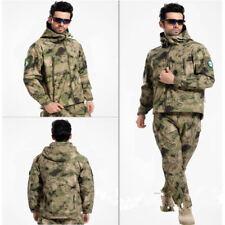 Shark Skin Soft Shell Men Military Tactical Jacket Hood Coat Pant Set Waterproof