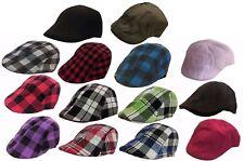 37f236e8b70 Kids IVY Plaid Solid Newsboy Duckbill Cabbie Children Boy Girl Cap Hat