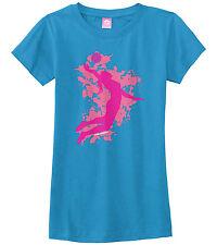 Threadrock Girls Volleyball Player Fitted T-shirt Spike Team Sport Design