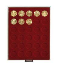 LINDNER Münzboxen Rauchglas mit runden Vertiefungen, für verkapselte Münzen