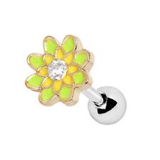 ressort fleur Cartilage / Barre Hélix - oreille clous ~6mm x 1.2mm - Piercing