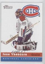 2000-01 Topps Heritage #162 Jose Theodore Montreal Canadiens Hockey Card