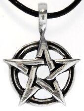 Colgante símbolo anarquía Estaño en cordón negro ajustable collar de un libre de níquel