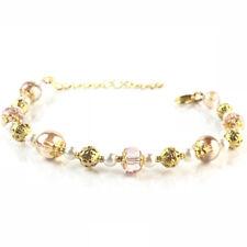 Bracelet Cristal Perles verre Quartz Or Inspiration haute couture Bijoux cadeau
