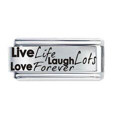 LIVE LIFE LAUGH LOTS .Daisy Charm JSC Fits Classic Size Italian Charms Bracelet