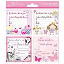 16 x Niña Cumpleaños Niños Invite Invitaciones Fiesta Hada Mariposa Cupcake