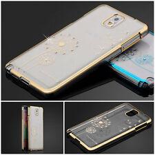 Ultra Fino Transparente Diamante Carcasa Trasera Para Samsung Galaxy Note 3