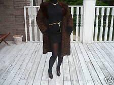 Schiaparelli black brown persian Lamb & mink Fur Coat