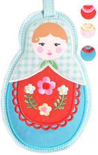 Cute BABUSCHKA Russian Doll Kofferanhänger / Gepäckanhänger