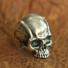 925 Sterling Silver Details Skull Ring Mens Biker Punk Ring TA102A US Size 7~15