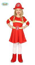 GUIRCA Costume Vigilessa del Fuoco pompiera carnevale bambina mod. 8323_