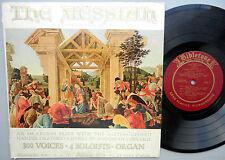 "Bibletone pres. THE MESSIAH Handel Oratorio Society Augustana College 10""mono LP"