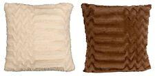 """18"""" Faux Fur Chevron Style Throw Pillow Home Decor Bed Chair Cushion Lodge Cabin"""