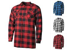 Mil-Tec Kariertes Holzfällerhemd Freizeithemd Baumwolle Flanellhemd S-3XL