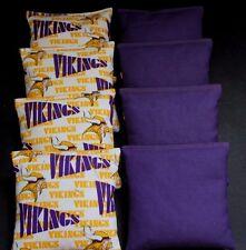 Rare Minnesota Vikings 8 Cornhole Bean Bags Aca Regulation Nfl Quality Handmade