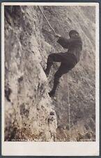 BELLUNO TOFANE 01 ALPINISMO ROCCIA - MONTAGNA Cartolina FOTOGRAFICA viagg. 1929