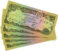 LOT 5 BILLETS Afghanistan Billet 10 Afghanis UNC Neuf