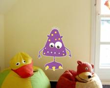 Grinsendes Monster Wandtattoo Wandaufkleber Kinderzimmer  4 Größen