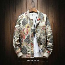 Men Japanese Embroidery Jacket Hip Hop Streetwear Fashionable Bomber Nice Coat