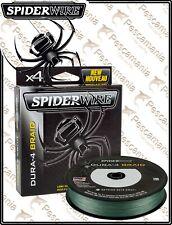 Trecciato Spiderwire SpiderWire Dura4 Braid Green multifibra 165 Yards - 150mt