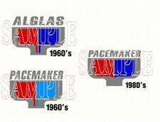 Pacemaker Alglas Boat Decals Emblems - PAIR