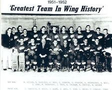 1951 1952 DETROIT RED WINGS 8X10 TEAM PHOTO HOCKEY NHL HOWE STANLEY CUP MICHIGAN