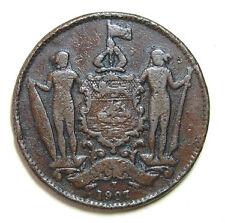 1 cent British North Borneo 1907H coin (key-date)  #253