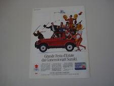 advertising Pubblicità 1991 SUZUKI SAMURAI