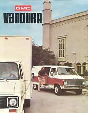 1975 GMC Vandura Brochure G-1500 G-2500 G-3500 - Mint!