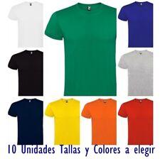 10 Camisetas manga corta hombre. 100% algodón. 10 und. a Elegir colores y tallas