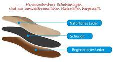 Schungit Einlegesohlen in drei Farben Ledersohlen mit Shungit Gr. 36-46 NEU!