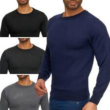 Herren Feinstrick Pullover Longsleeve Sweater Langarm Rundhals Cardigan O-Neck