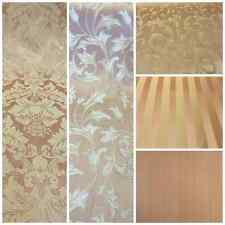 "Pink/Gold Damask Jacquard Brocade Fabric 118"" By the Yard Many Design"