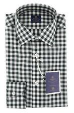 New $600 Luigi Borrelli Dark Green Shirt - Extra Slim - (EV06RC54950)