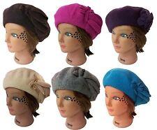 French Beret Wool Women Beanie Beret Baggy Decoration Hat Cap