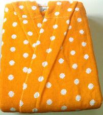 Lasa Kinder Bademantel Frottee Dots Punkte orange Gr. 152 176 12 / 14 Jahre