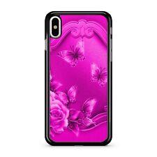 Elegant Light Pink Floral Butterflies Metallic Chrome EFFECT 2D Phone Case Cover