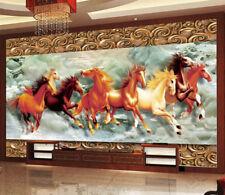 3D Running Horses 620 WallPaper Murals Wall Print Decal Wall Deco AJ WALLPAPER
